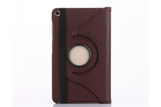 Чехол для планшета Huawei MediaPad M2 7.0 (PLE-703L) поворотный роторный оборотный коричневый кожаный