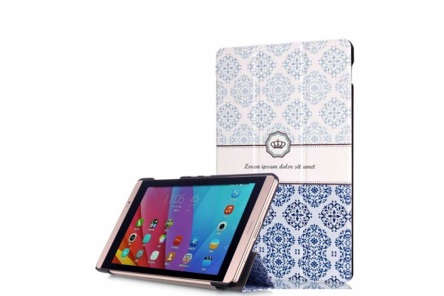 Фирменный необычный чехол для Huawei MediaPad M2 7.0 (PLE-703L) тематика Корона в винтажном стиле