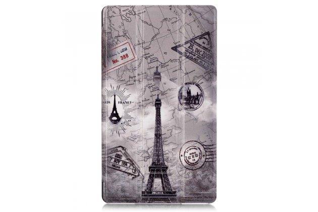 Фирменный необычный чехол для Huawei MediaPad M2 7.0 (PLE-703L) тематика Париж