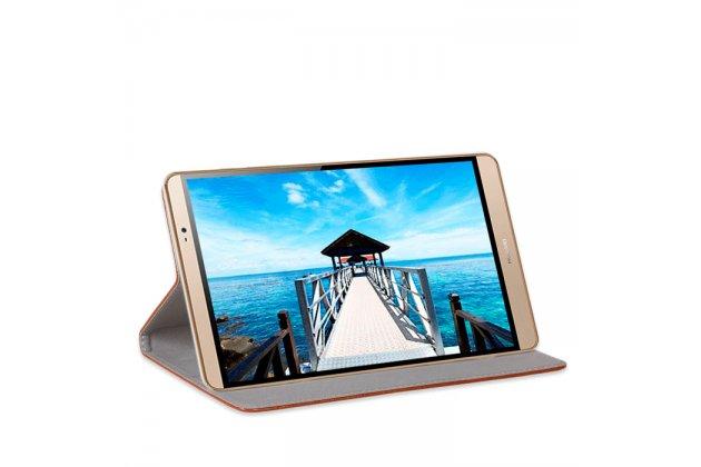 Фирменный премиальный элитный чехол-книжка из качественной импортной кожи с мульти-подставкой для Huawei MediaPad M2 7.0 (PLE-703L)  красный