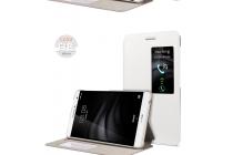Фирменный оригинальный чехол-книжка для Huawei MediaPad M2 7.0 (PLE-703L) белый с окошком для входящих вызовов