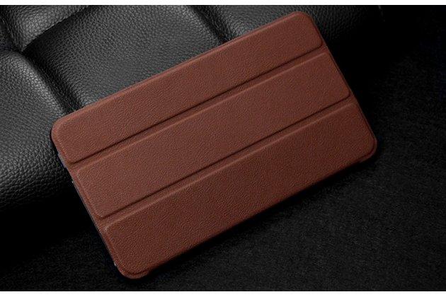 Фирменный умный чехол самый тонкий в мире для Huawei MediaPad M2 7.0 (PLE-703L) iL Sottile коричневый пластиковый Италия