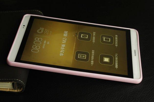 Фирменная ультра-тонкая полимерная из мягкого качественного силикона задняя панель-чехол-накладка для Huawei MediaPad M2 7.0 (PLE-703L) белая