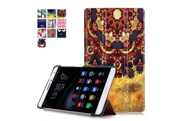 Фирменный необычный чехол для Huawei MediaPad M2 7.0 (PLE-703L) тематика Эклектические узоры