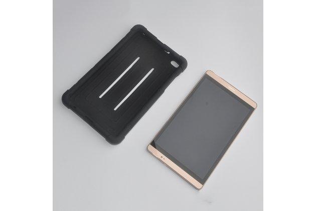 Фирменная полимерная из мягкого качественного силикона задняя панель-чехол-накладка для Huawei MediaPad M2 8.0 LTE (M2-801W M2-803L) черная