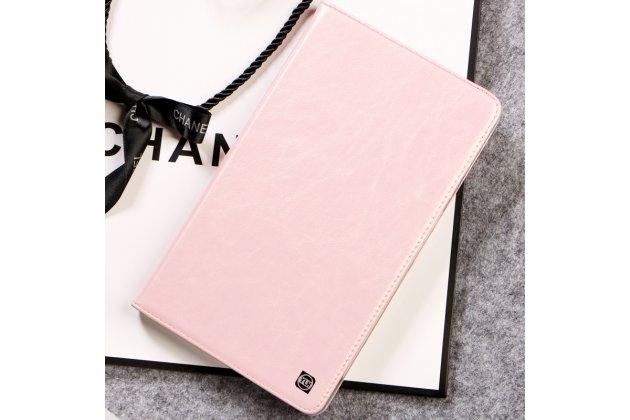 Фирменный умный ультра тонкий чехол бизнес класса для планшета Huawei MediaPad M2 8.0 LTE (M2-801W M2-803L)из качественной импортной кожи в нежно-розовом цвете