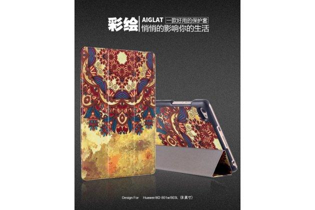 Фирменный уникальный необычный чехол-книжка для Huawei MediaPad M2 8.0 LTE (M2-801W M2-803L) тематика  Эклектические узоры