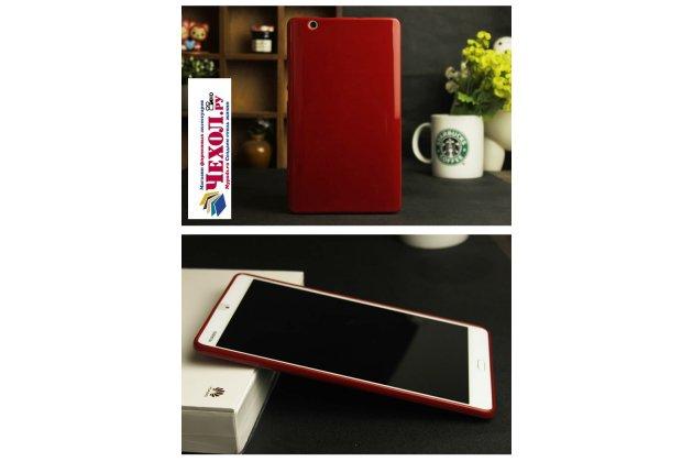 Фирменная ультра-тонкая полимерная из мягкого качественного силикона задняя панель-чехол-накладка для Huawei MediaPad M3 8.4 LTE (BTV-W09/DL09) красная