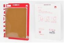 Фирменный оригинальный подлинный чехол с логотипом для Huawei MediaPad M3 8.4 LTE (BTV-W09/DL09) Smart Wake коричневый