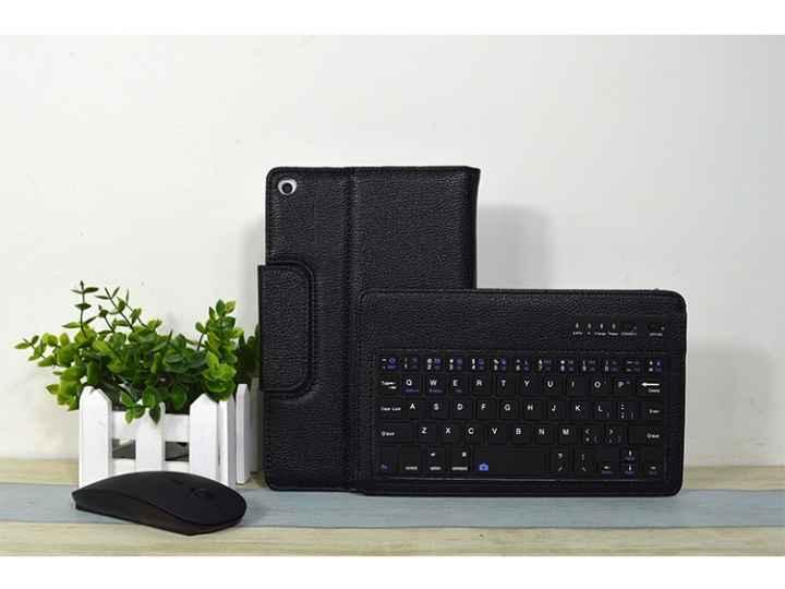 Фирменный оригинальный чехол для HuaWei MediaPad T1 8.0 S8-701U S8-701W с отделением под клавиатуру черный кож..