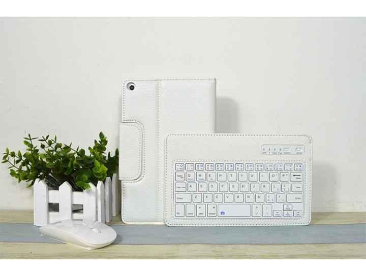 Фирменный оригинальный чехол для HuaWei MediaPad T1 8.0 S8-701U S8-701W с отделением под клавиатуру белый кожа..