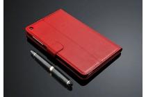 """Фирменный премиальный чехол бизнес класса для Huawei MediaPad T1 T1-701u 7.0 с визитницей из качественной импортной кожи """"Ретро"""" красный"""
