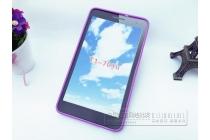 Фирменная ультра-тонкая полимерная из мягкого качественного силикона задняя панель-чехол-накладка для Huawei MediaPad T1 T1-701u 7.0 фиолетовая