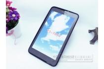 Фирменная ультра-тонкая полимерная из мягкого качественного силикона задняя панель-чехол-накладка для Huawei MediaPad T1 T1-701u 7.0 черная