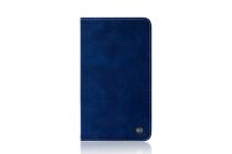 Фирменный дорогой качественный элитный премиальный чехол для планшета Huawei MediaPad T2 10.0 Pro/ T2 10.0 Pro LTE из качественной импортной кожи синий