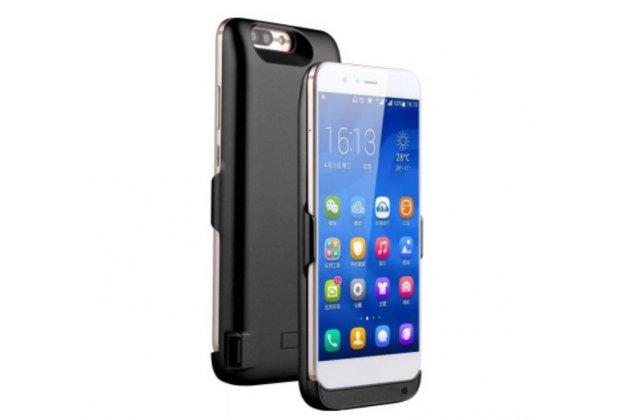 Чехол-бампер со встроенной усиленной мощной батарей-аккумулятором большой повышенной расширенной ёмкости 10000mAh для Huawei nova 2 5.0 (BAC-AL00) черный + гарантия