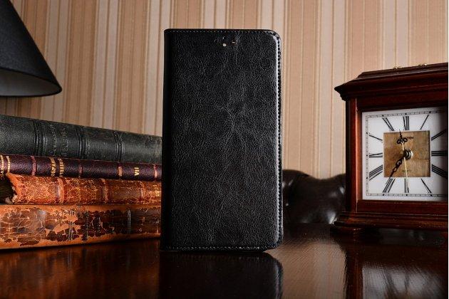 Фирменный оригинальный чехол-книжка из качественной импортной кожи  для Huawei nova 2 черный