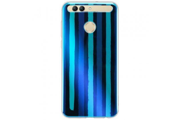 Фирменная оригинальная подлинная задняя панель-крышка-накладка из тончайшего прочного пластика с рисунком Синие полосы для Huawei nova 2 5.0 (BAC-AL00)