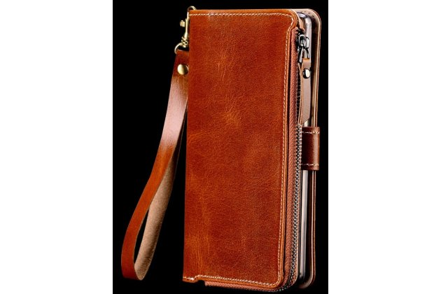 Фирменный чехол-портмоне-клатч-кошелек на силиконовой основе из качественной импортной кожи для Huawei nova 2
