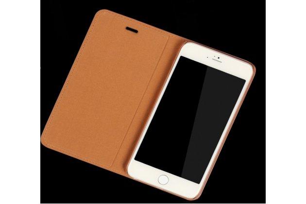 Фирменный оригинальный чехол-книжка из качественной импортной для Huawei nova 2 Королевский коричневый