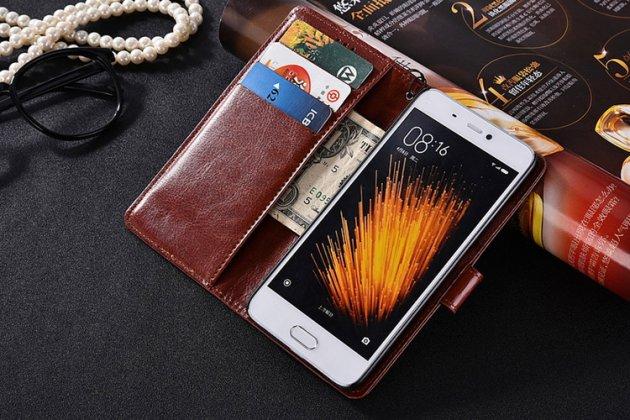 Фирменный оригинальный чехол-книжка из качественной импортной кожи для Huawei nova Королевский коричневый