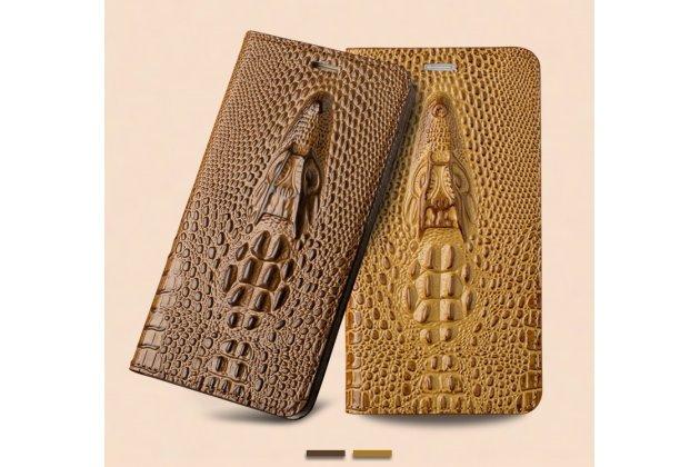 Фирменный роскошный эксклюзивный чехол с объёмным 3D изображением рельефа кожи крокодила белый для Huawei nova 2 . Только в нашем магазине. Количество ограничено