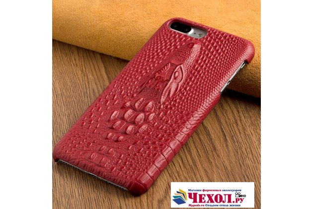 Фирменная роскошная эксклюзивная накладка с объёмным 3D изображением рельефа кожи крокодила красная для Huawei Nova 2i (RNE-AL00) / Huawei Mate 10 Lite. Только в нашем магазине. Количество ограничено