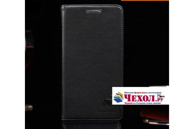 """Фирменный премиальный элитный чехол-книжка с логотипом из качественной импортной кожи с мульти-подставкой и визитницей для Huawei Nova 2i (RNE-AL00) / Huawei Mate 10 Lite """"Ретро"""" черный"""
