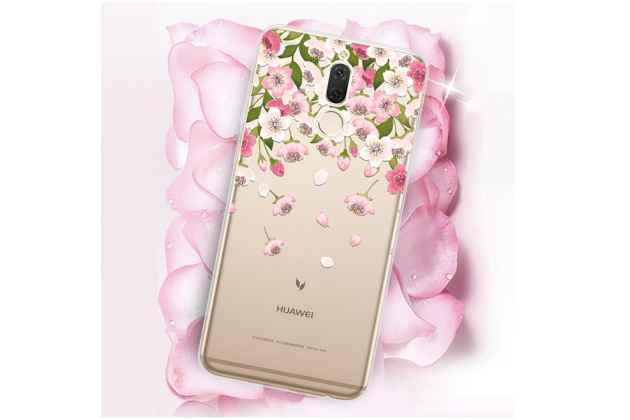 "Фирменная роскошная задняя панель-чехол-накладка  из мягкого силикона с безумно красивым расписным 3D рисунком на Huawei Nova 2i (RNE-AL00) / Huawei Mate 10 Lite ""тематика Цветок вишни"""