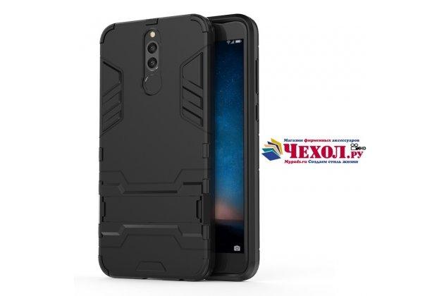 Противоударный усиленный ударопрочный фирменный чехол-бампер-пенал для Huawei Nova 2i (RNE-AL00) черный