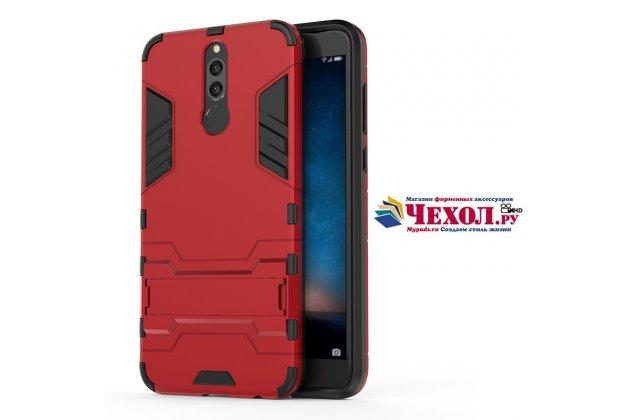 Противоударный усиленный ударопрочный фирменный чехол-бампер-пенал для Huawei Nova 2i (RNE-AL00) красный