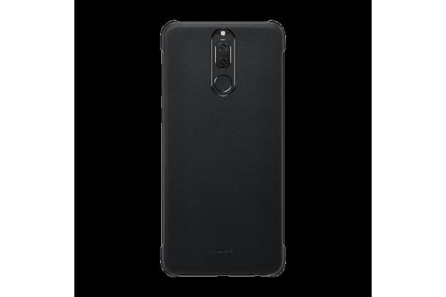 Фирменная оригинальная подлинная крышка-накладка с логотипом из тончайшего и прочного пластика для Huawei Nova 2i (RNE-AL00) / Huawei Mate 10 Lite черная