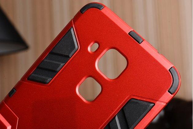 Противоударный усиленный ударопрочный фирменный чехол-бампер-пенал для Huawei Nova Plus красный
