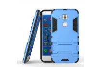 Противоударный усиленный ударопрочный фирменный чехол-бампер-пенал для Huawei Nova Plus синий