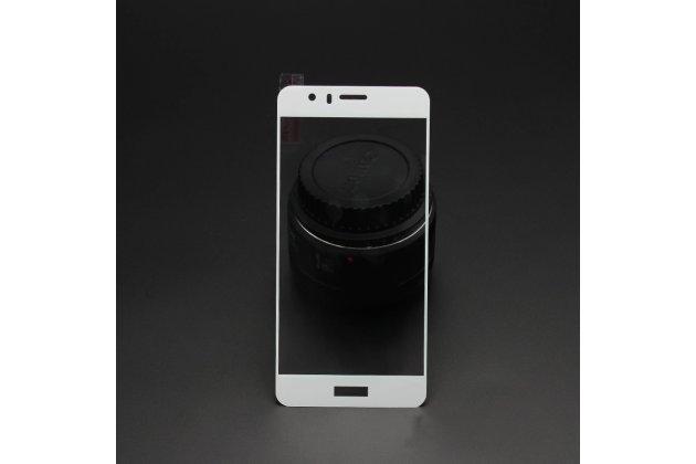Фирменное 3D защитное изогнутое стекло с закругленными изогнутыми краями которое полностью закрывает экран / дисплей по краям с олеофобным покрытием для Huawei Nova Plus