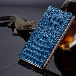 Фирменный роскошный эксклюзивный чехол с объёмным 3D изображением кожи крокодила синий для Huawei Nova Plus . Только в нашем магазине. Количество ограничено