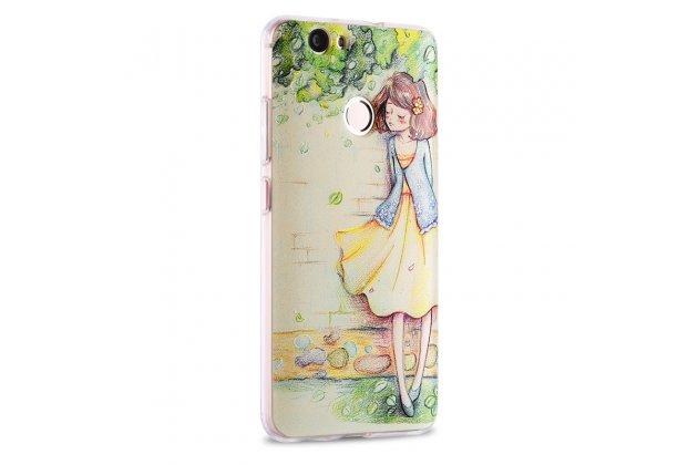 """Фирменная роскошная задняя панель-чехол-накладка  из мягкого силикона с безумно красивым расписным 3D рисунком на Huawei Nova """"тематика Девочка"""""""