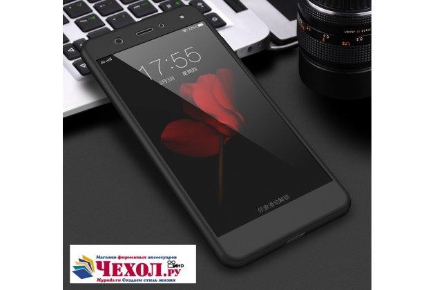 Фирменный уникальный чехол-бампер-панель с полной защитой дисплея и телефона по всем краям и углам для Huawei P10 Lite  черный