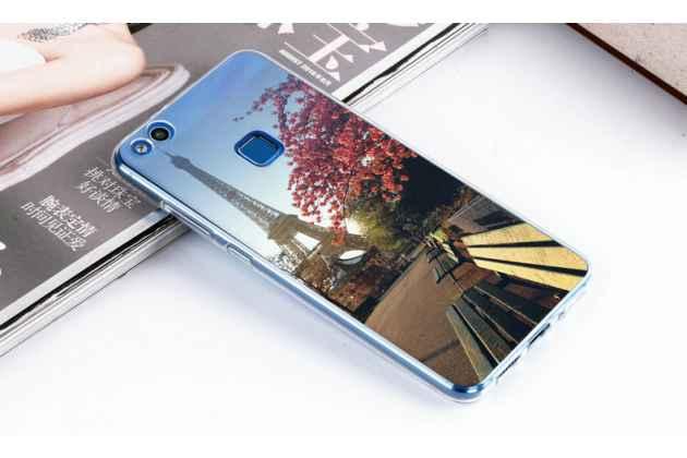Фирменная уникальная задняя панель-крышка-накладка из тончайшего силикона для Huawei P10 Lite / Nova Lite с объёмным 3D рисунком тематика Париж