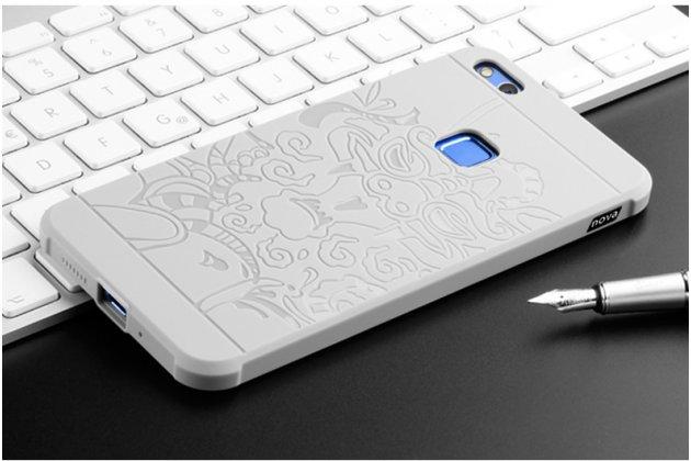 """Фирменная роскошная задняя панель-чехол-накладка с безумно красивым расписным рисунком на Huawei P10 Lite / Nova Lite """"тематика Китайский Дракон"""" серая"""