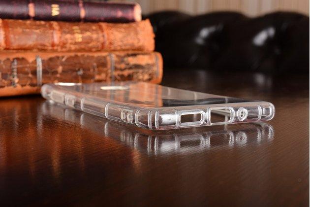 Фирменная задняя панель-чехол-накладка с защитными заглушками с защитой боковых кнопок для Huawei P10 Lite  прозрачная