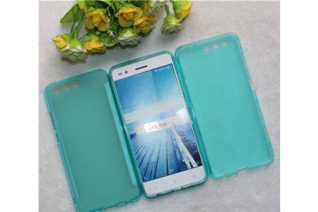 Фирменная ультра-тонкая полимерная из мягкого качественного силикона задняя панель-чехол-накладка для Huawei P10 Plus голубая