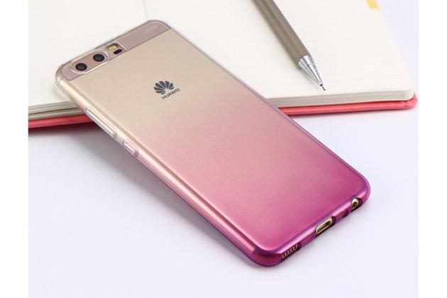 Фирменная ультра-тонкая полимерная задняя панель-чехол-накладка из силикона для Huawei P10 Plus прозрачная с эффектом грозы