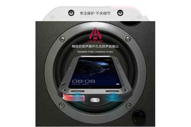Неубиваемый водостойкий противоударный водонепроницаемый грязестойкий влагозащитный ударопрочный фирменный чехол-бампер для Huawei P10 Plus цельно-металлический со стеклом Gorilla Glass черный