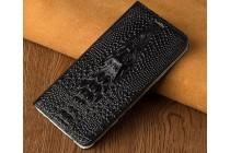 Фирменный роскошный эксклюзивный чехол с объёмным 3D изображением кожи крокодила черный для Huawei P10. Только в нашем магазине. Количество ограничено