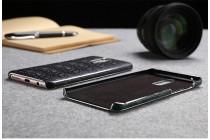 Фирменная роскошная элитная премиальная задняя панель-крышка на пластиковой основе обтянутая кожей крокодила для Huawei P10 черная