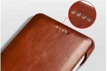 Фирменный премиальный чехол-кейс бизнес класса для Huawei P10 из качественной импортной кожи бордовый