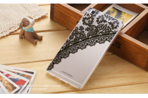 Фирменная уникальная задняя панель-крышка-накладка из тончайшего силикона для Huawei P8 (GRA-UL10) 5.2 с объёмным 3D рисунком тематика Черное Кружево