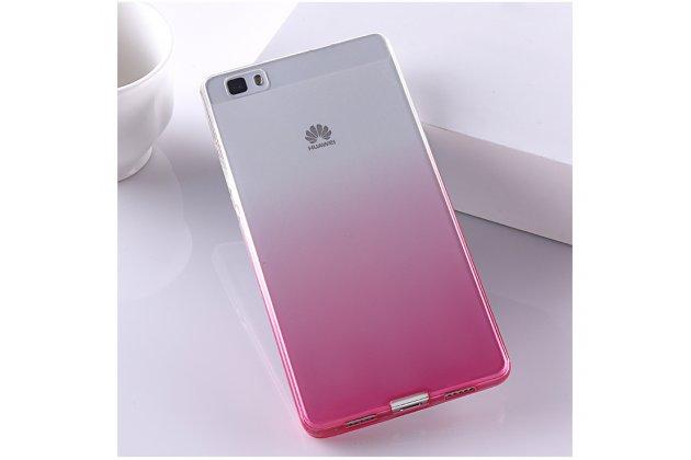 Фирменная ультра-тонкая полимерная задняя панель-чехол-накладка из силикона для Huawei P8 Lite  прозрачная с эффектом грозы