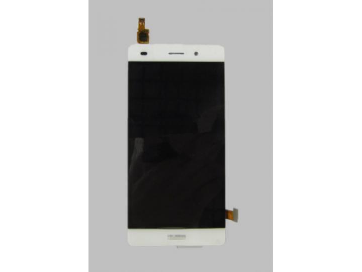 Фирменный LCD-ЖК-сенсорный дисплей-экран-стекло с тачскрином на телефон Huawei P8 Lite  белый + гарантия..